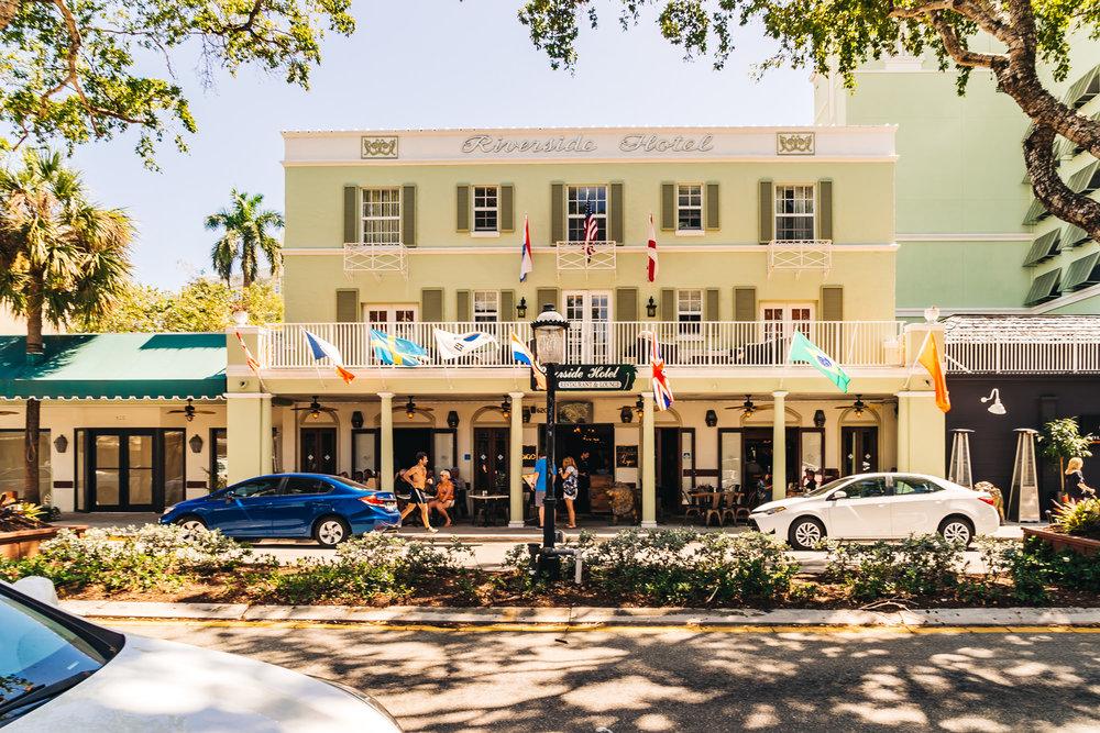 Entrance of Riverside Hotel