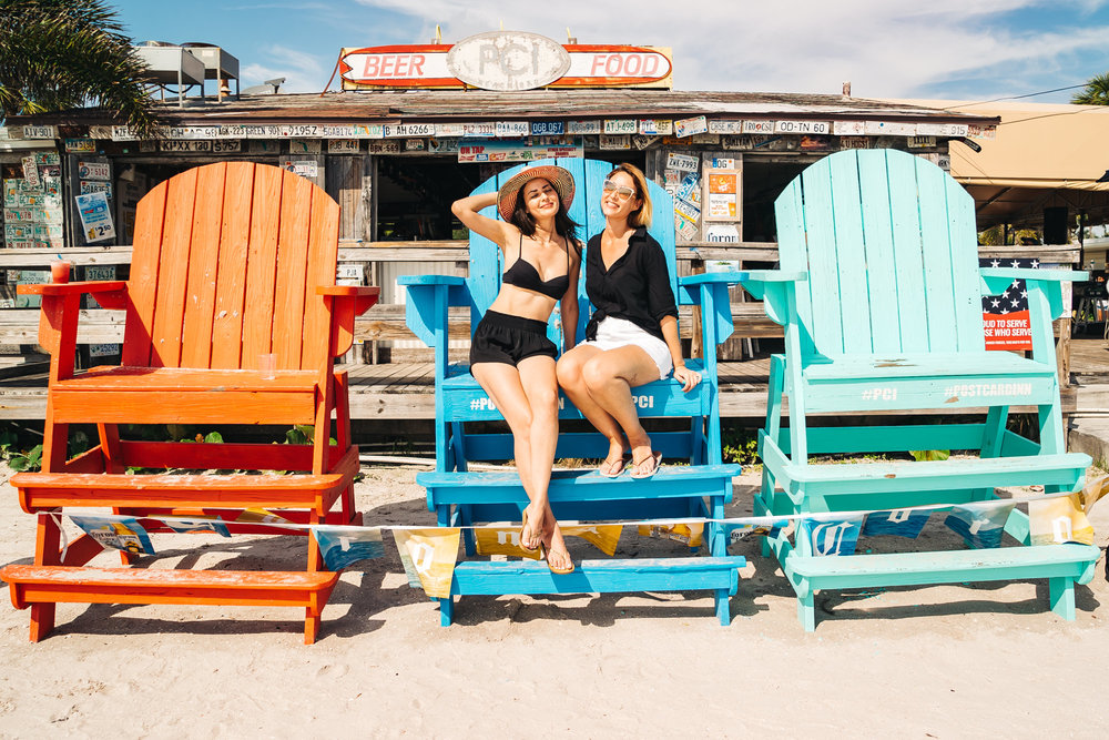 Make sure you take your tourist photo on these huge chairs at Postcard Inn!