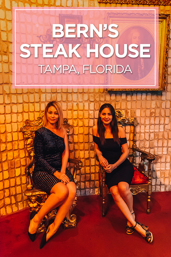 Bern's Steak House in Tampa, Florida - a unique culinary experience!