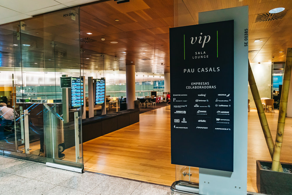VIP lounge, Pau Casals, at Barcelona airport