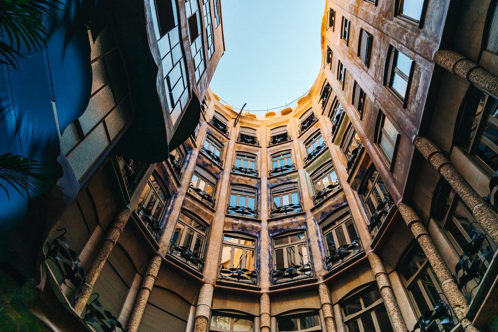Entrance of Casa Mila