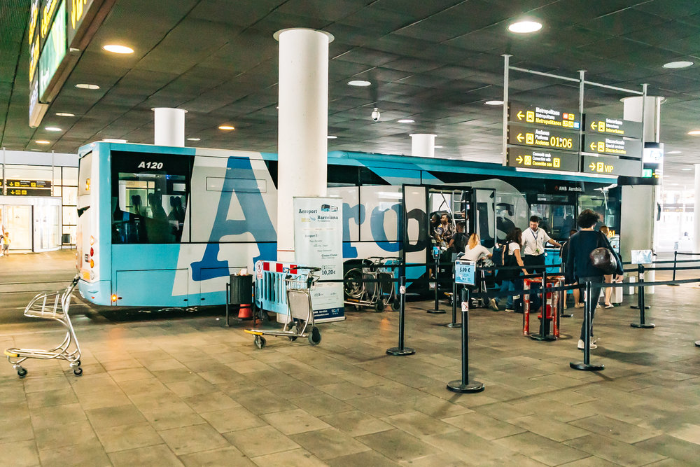 Convenient and efficient Aerobus in Barcelona