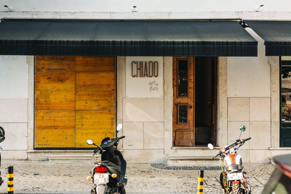 Chiado Arty Flats entrance in Lisbon, Portugal