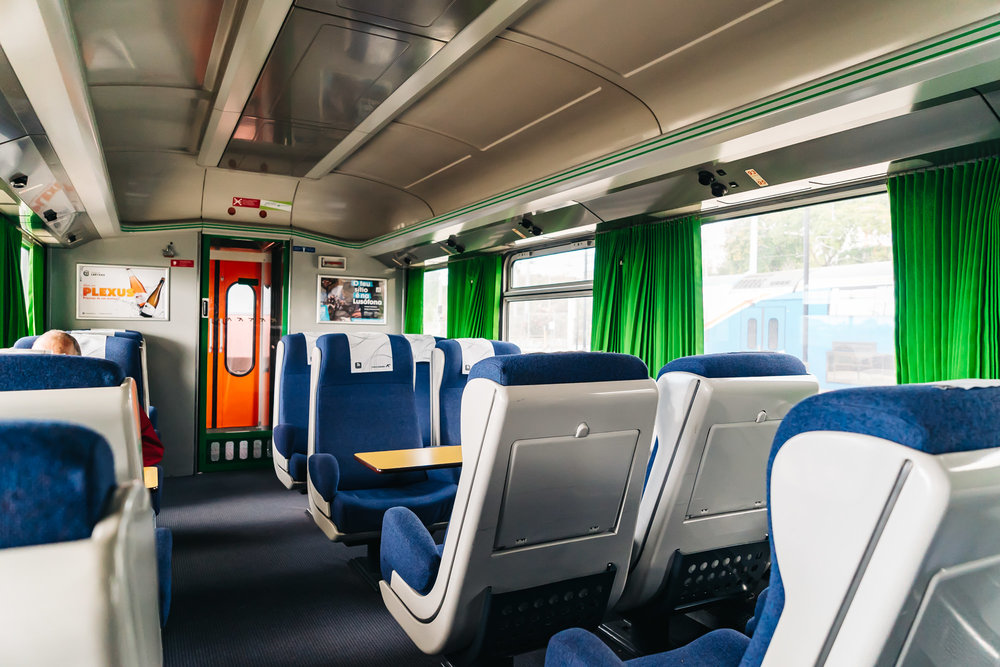 Pretty empty train ride from Lisbon to Albufeira in Portugal