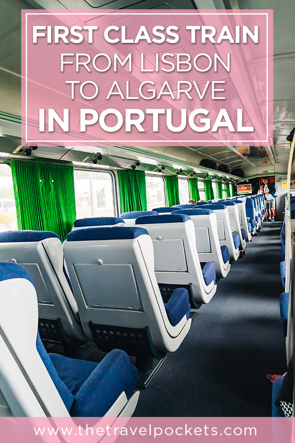 First Class Train from Lisbon to Algarve Albufeira in Portugal