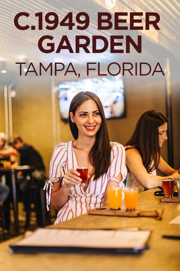 Pet-friendly c1949 Florida Beer Garden in Tampa #Florida #Tampa #beer #petfriendly #USA