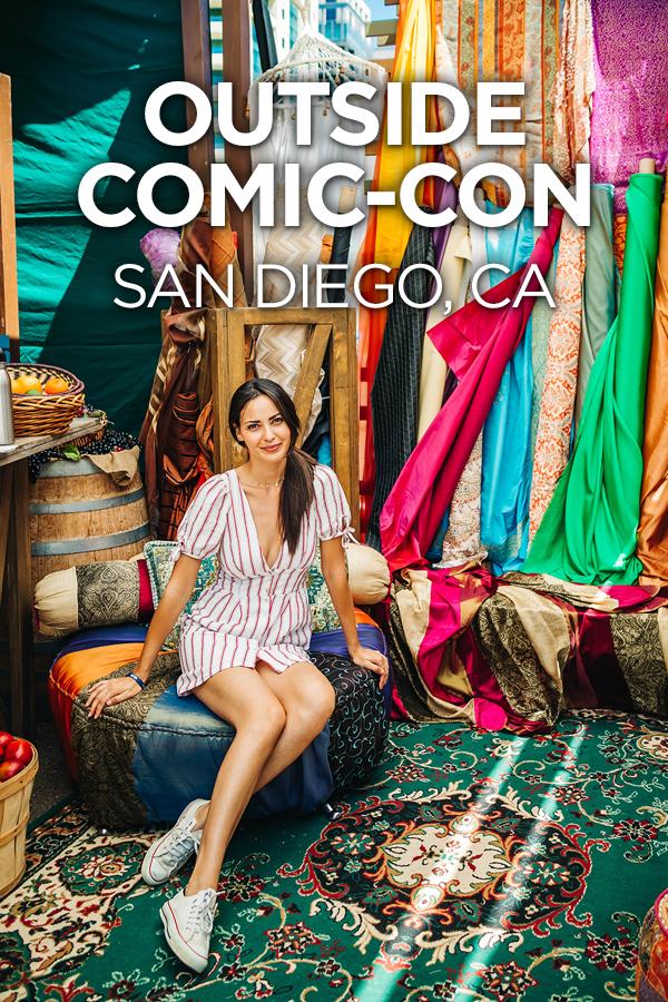 Outside Comic-Con 2018 Pinterest Pin