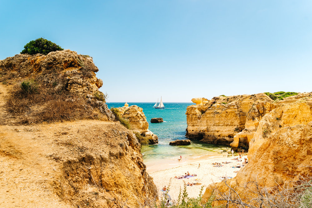 São Rafael Beach in Albufeira, Portugal