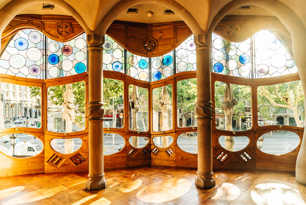 The famous living room at Casa Batlló everyone has to get a picture of