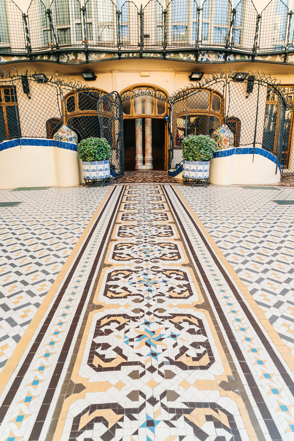 Loved the beautiful tiles of this courtyard