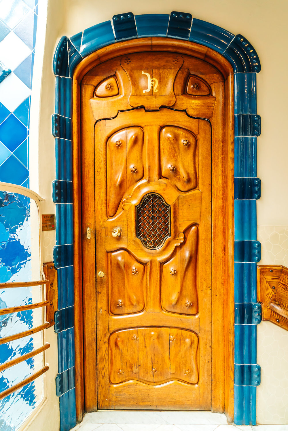 Antoni Gaudi's unique oak doors