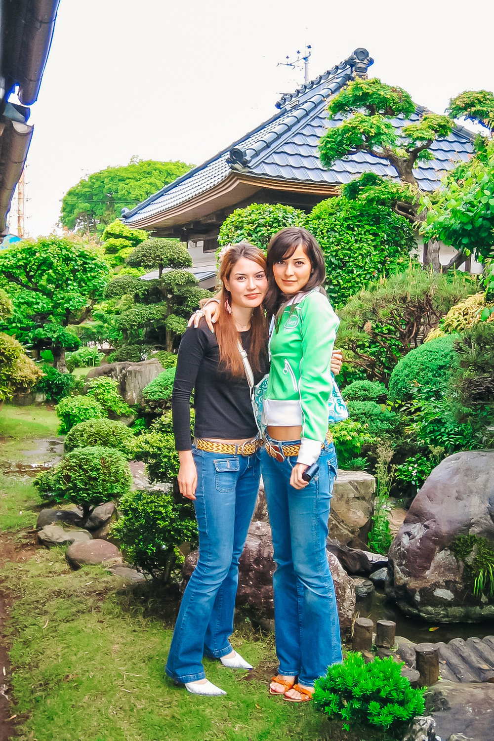 years ago with my little sister in Our Cousin's Grandma's Japanese garden