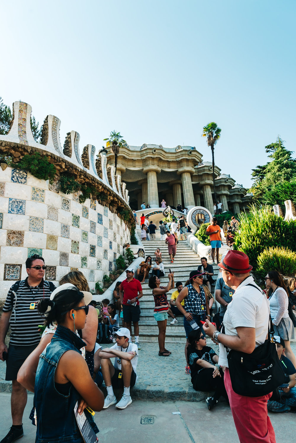 so many visitors at Park Guell