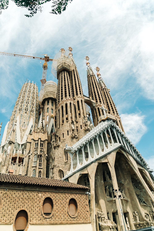 La Sagrada Familia by Antoni Gaudi
