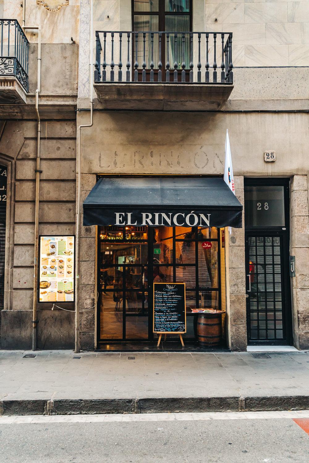 El Rincon restaurant in Barcelona