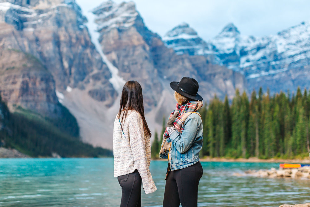 Soaking in thew views at Moraine Lake