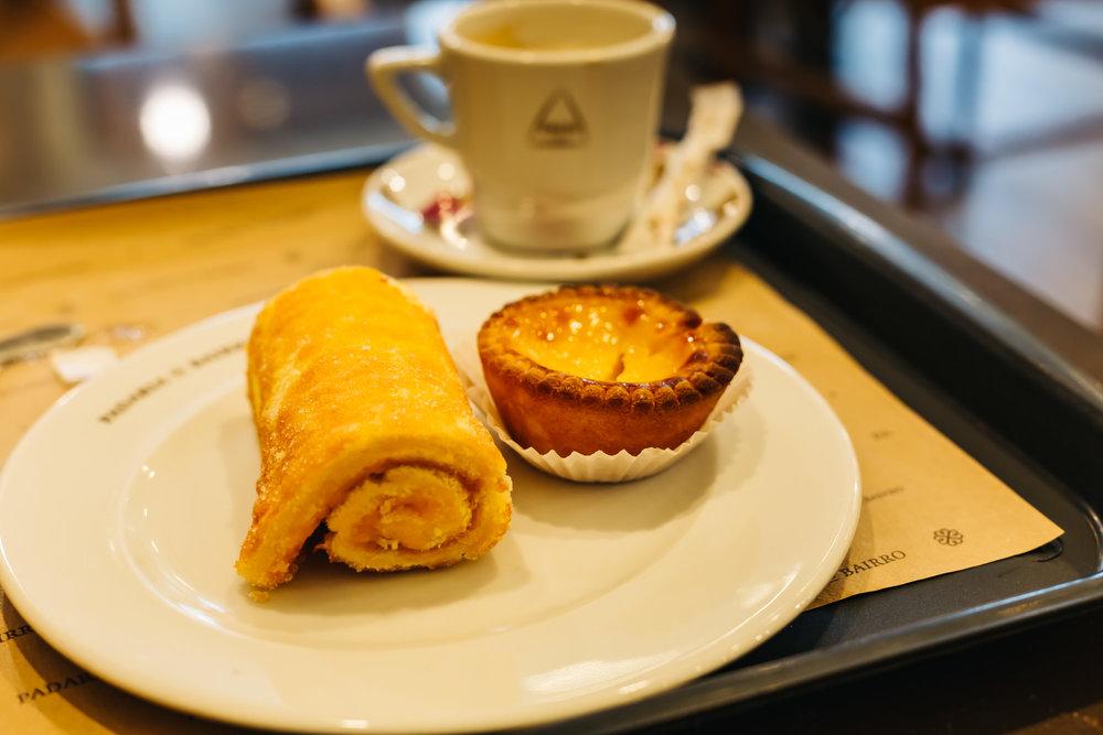 Delicious pastries from A Padaria Portuguesa