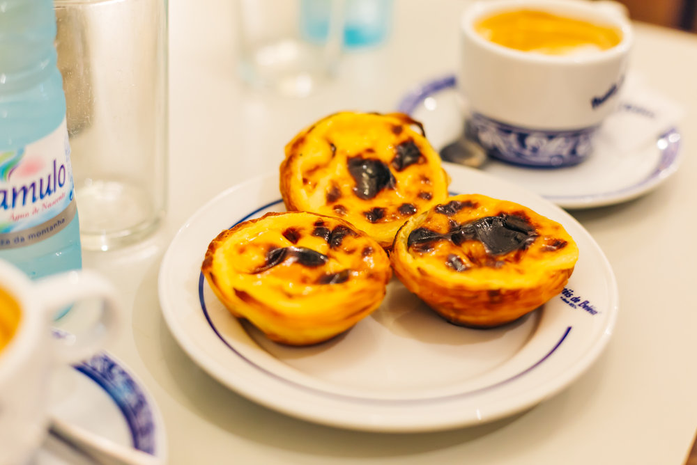 Delicious egg tarts from Pasteis de Belem