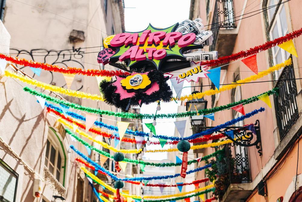 Bairro Alto neighborhood in Lisbon, Portugal