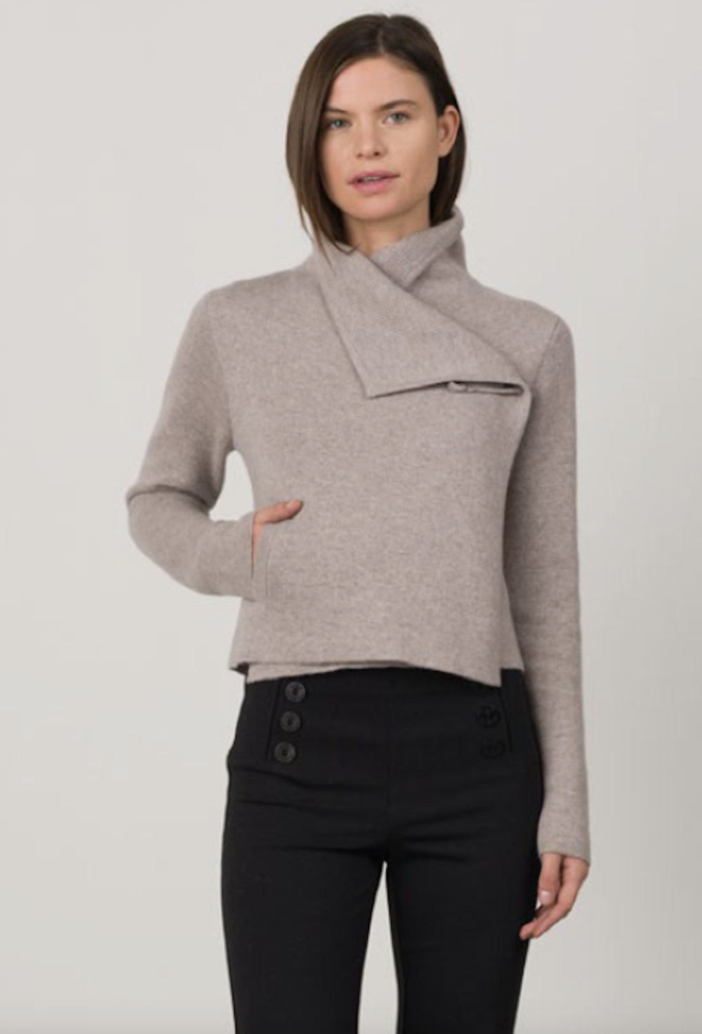 Margaret OLeary Cashmere Moto Sweater