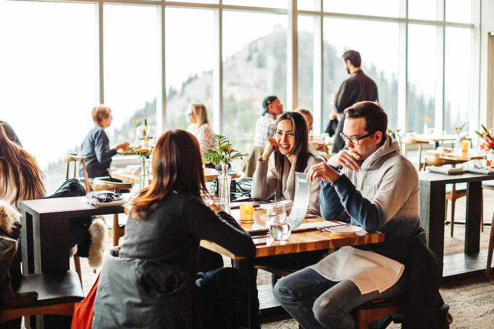 Dining at Sky bistro on top of Sulphur mountain