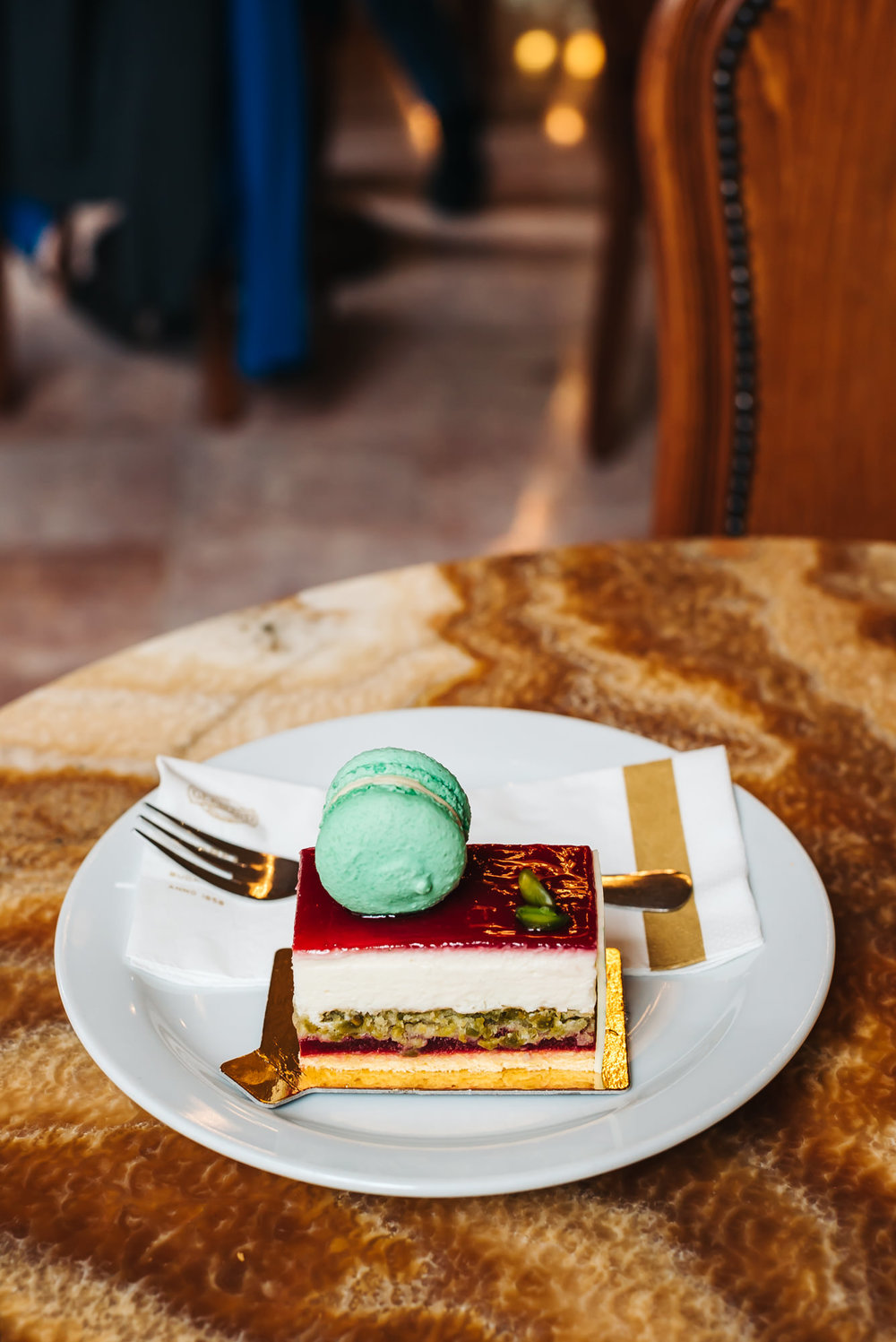 Delicious cakes at Gerbeaud