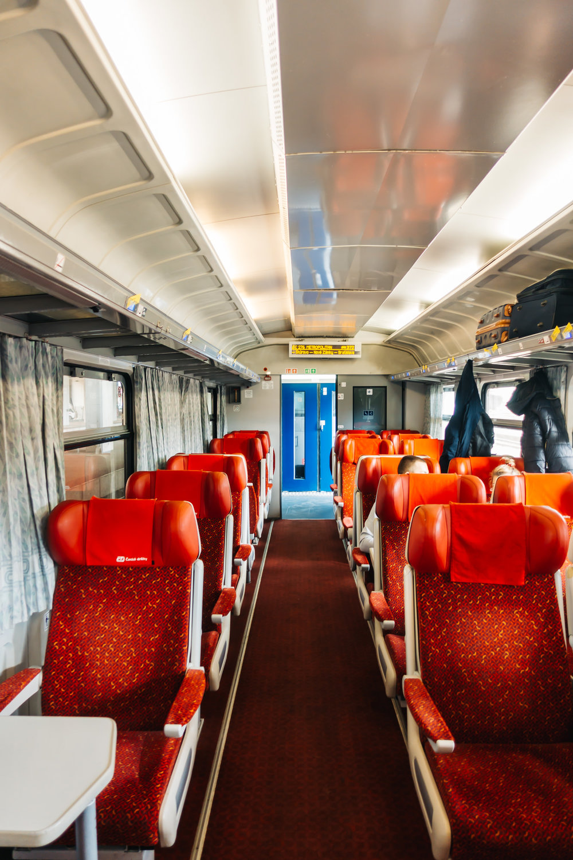 Comfy 1st class seats