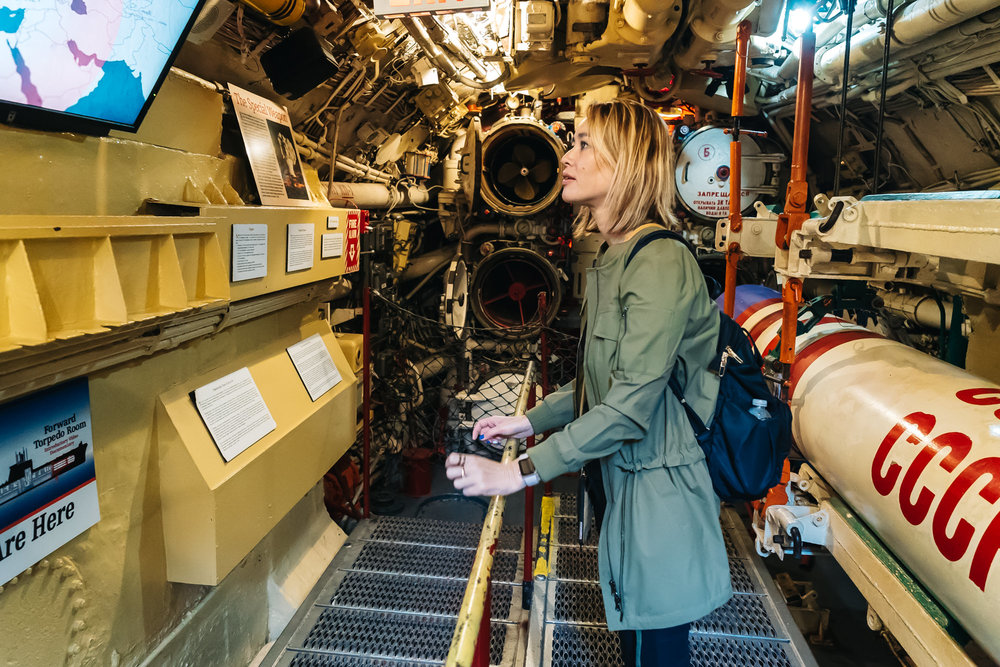 Learning the history of the B-39 submarine