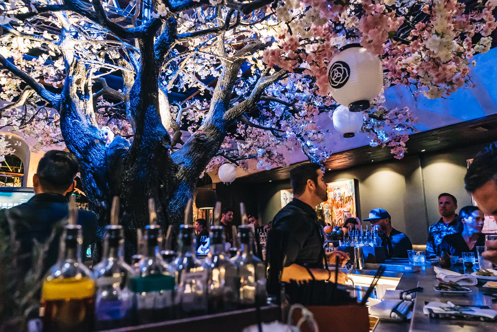 Gorgeous Cherry Blossom Bar at   Cloack + Petal