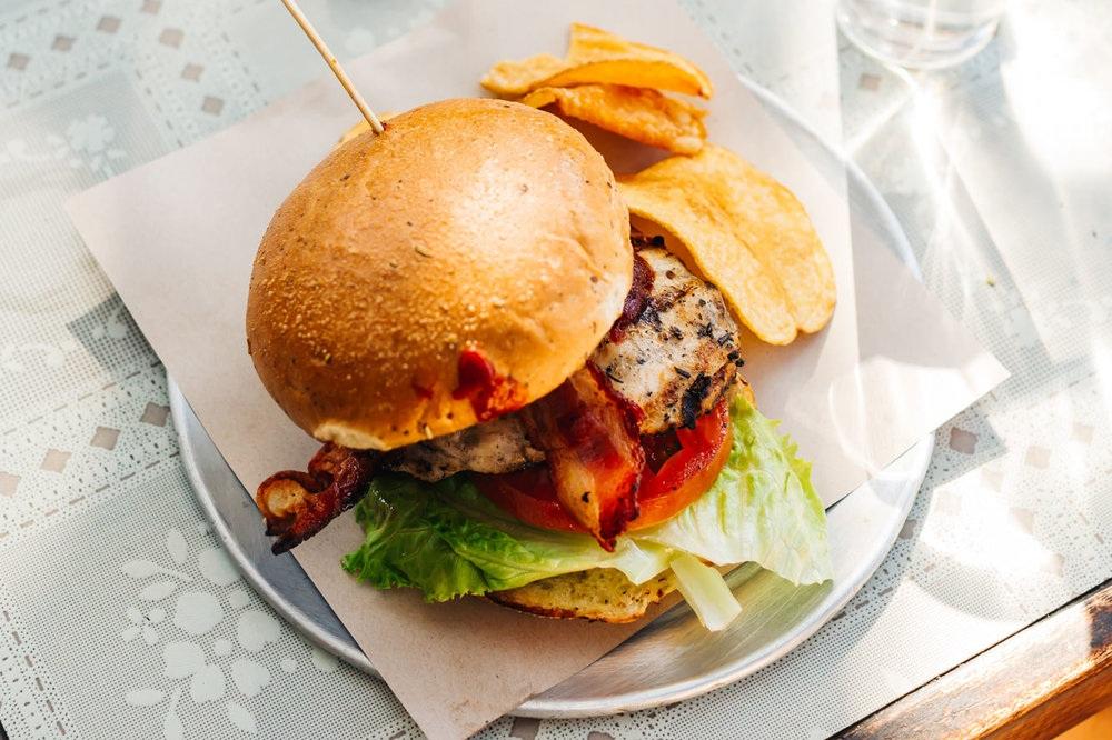 Grilled Chicken sandwich from   Queenstown Public House