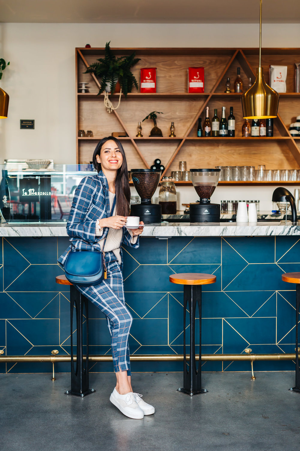 TOBI   Plaid Blazer & Pants   // seychelles   Fashion Sneaker