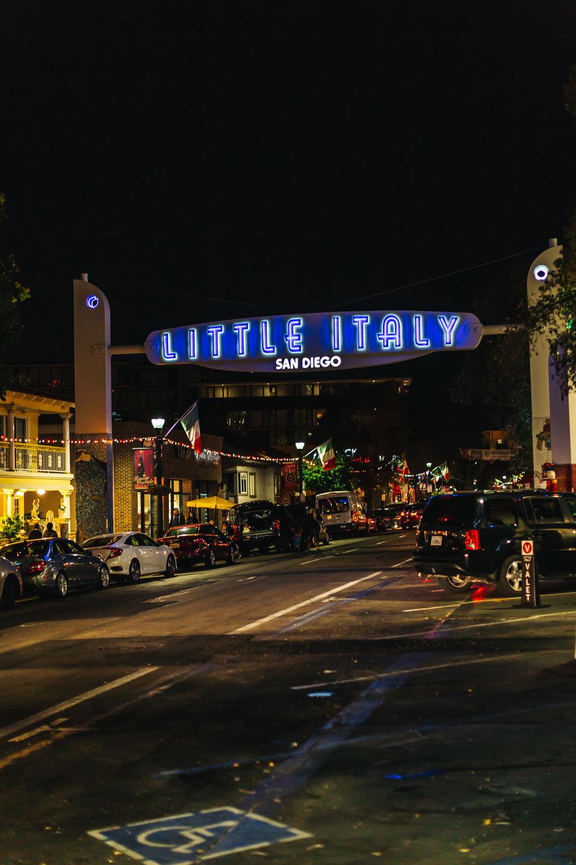 Little Italy San Diego Landmark Sign #LittleItaly
