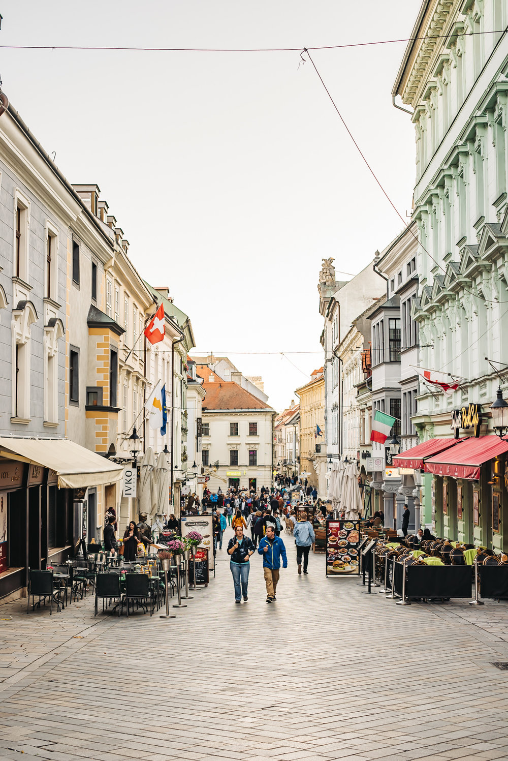 Old Town Bratislava is full of restaurants and shops