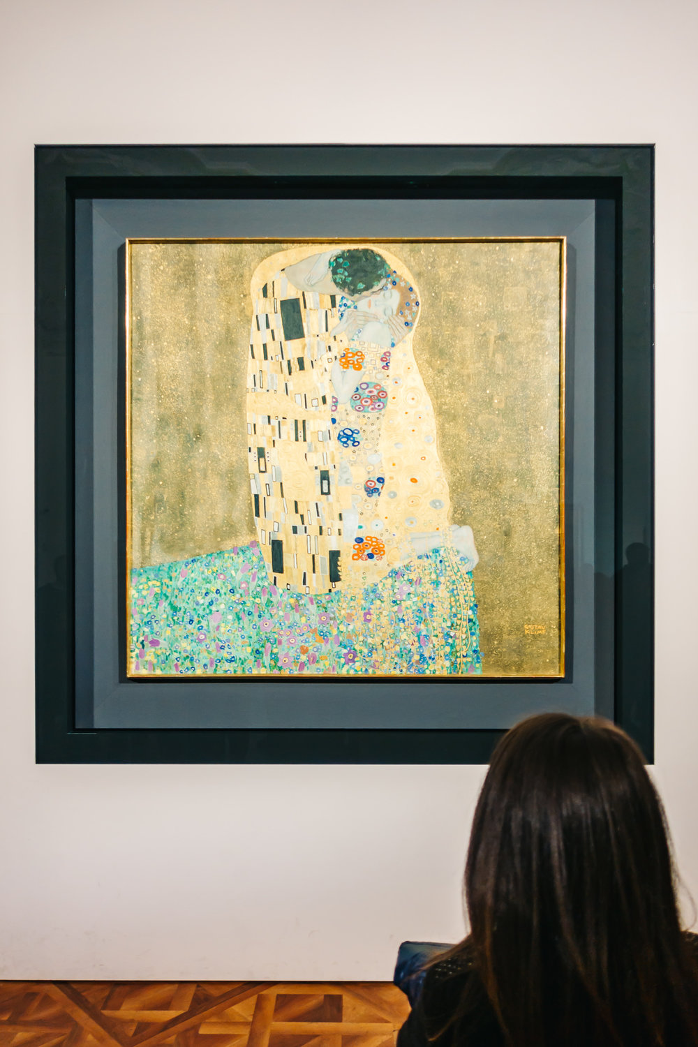 "Klimt's famous ""Kiss"" Painting at the Belvedere Museum"