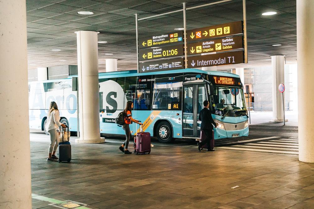 Efficient Aerobus at Barcelona's airport