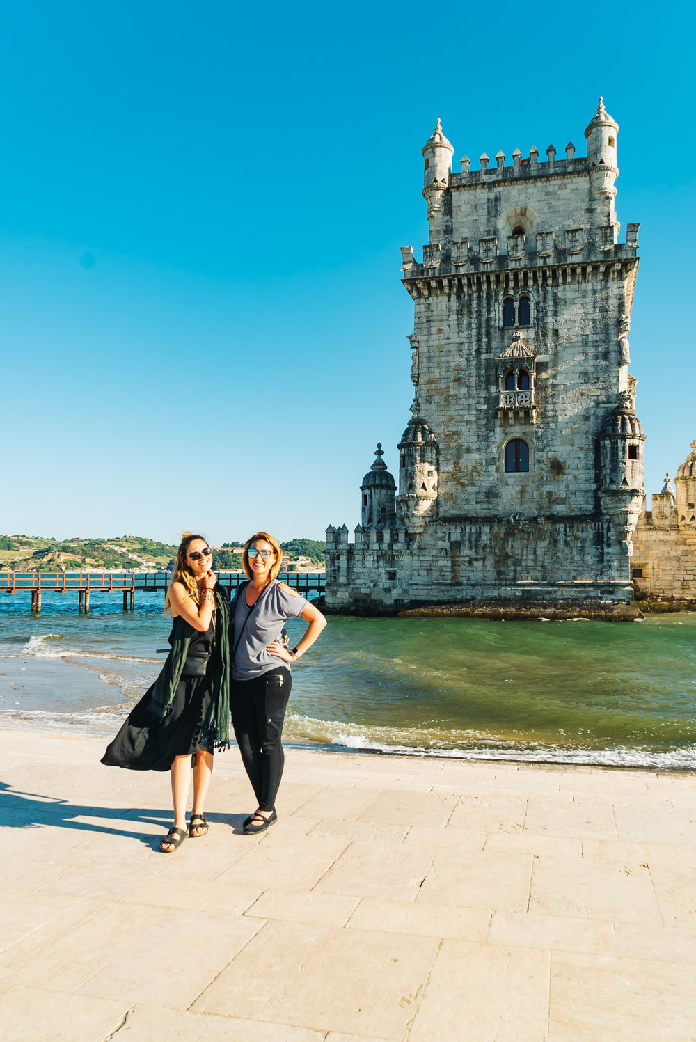 At the Belem Tower with my new friend I met on the tour