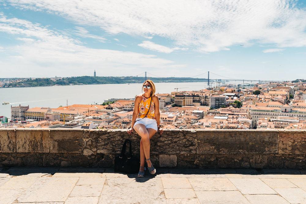 Panoramic views of Lisbon from Castelo de S. Jorge