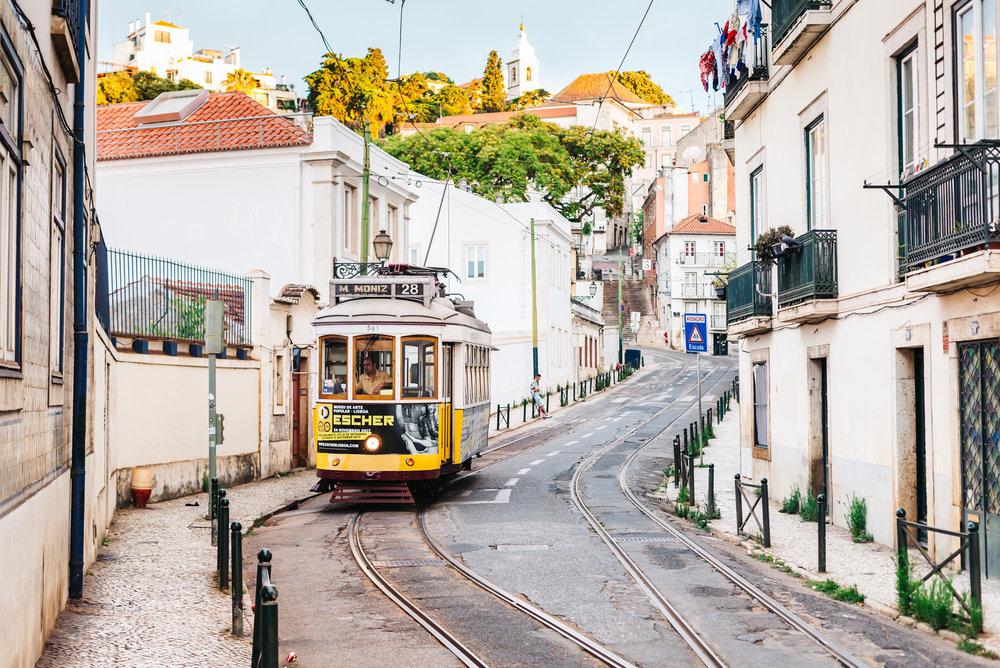 Historic Tram 28 of Lisbon