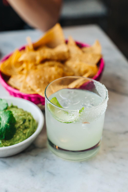 Tequila reposado, agave, lime, orange bitters, sweet citrus salt rim