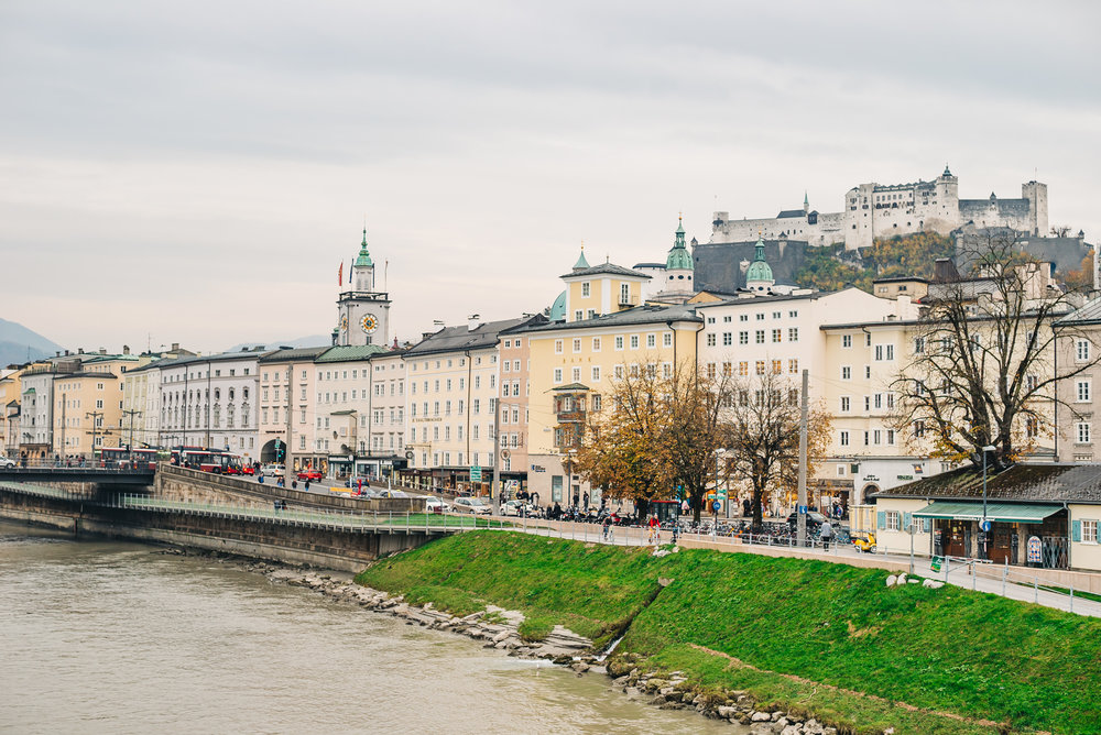 The historic town of Salzburg in Austria
