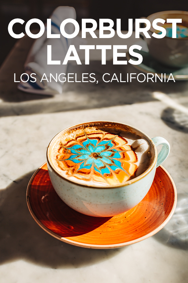 Colorful Lattes in Los Angeles #California #USA #coffee