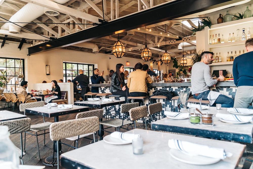 Indoor dining area of Gracias Madre