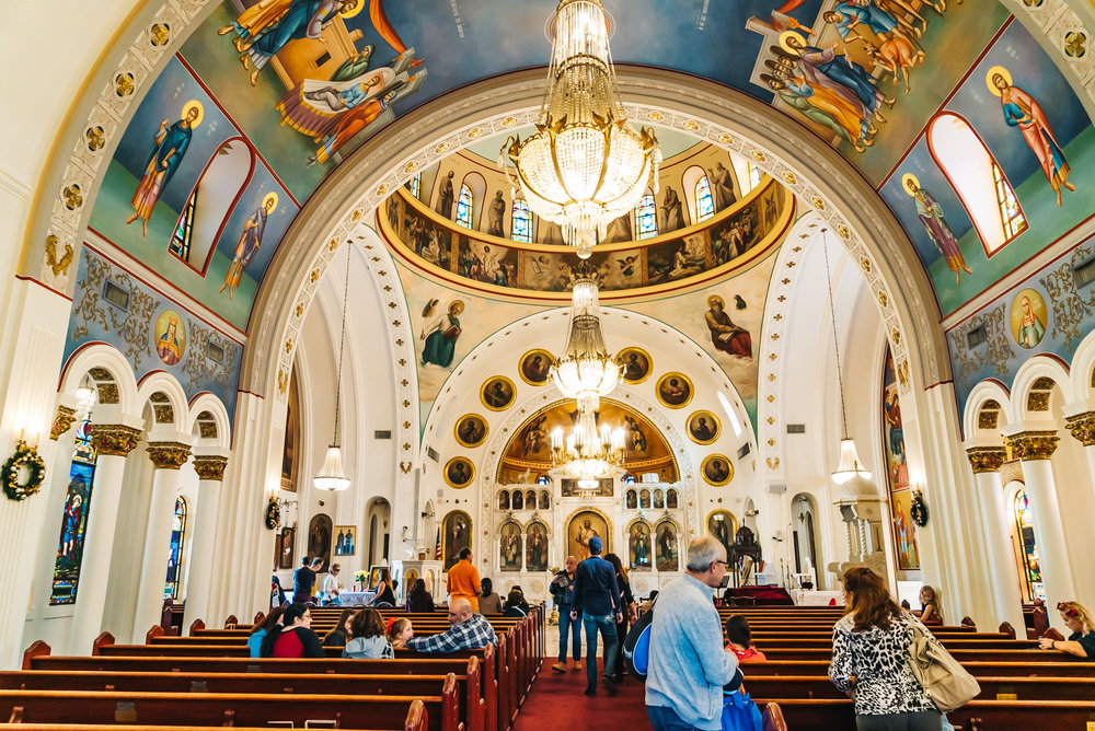 Inside of Saint Nicholas Greek Orthodox Cathedral