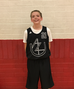 "Proud of 6th Grade power forward Christian DePue for earning the award for AZU player of the week in our first spring tournament. Christian (6'1"") is an amazing kid who works hard, has a positive attitude and is an overall great team player. He has the potential to be an elite basketball player for MANY years to come! Along with being such a coachable young man and wonderful teammate to his peers, Christian also didn't miss a shot in his AZU debut at the Inspire Courts! He went five for five from the field and grabbed eleven rebounds, spectacular job Christian DePue! (3/2017)"