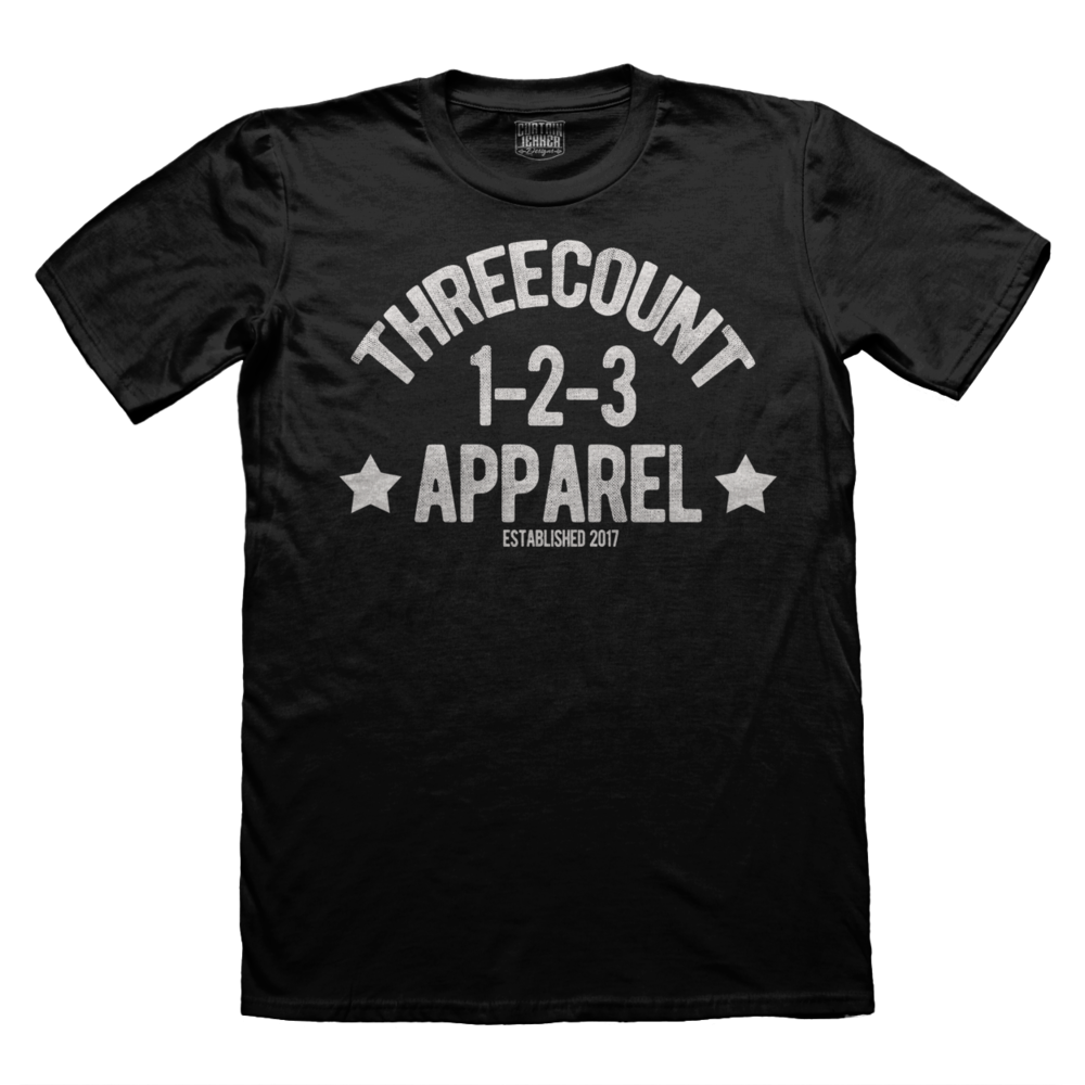 Three Count Apparel Logo Shirt- $15.00 -     CLICK TO PURCHASE