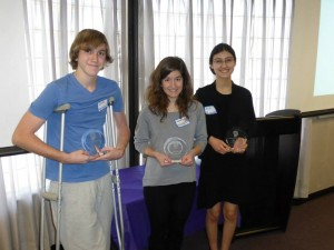 Las Vegas Brain Bee 2015 (left to right): Jacob, Valentina, Aliya