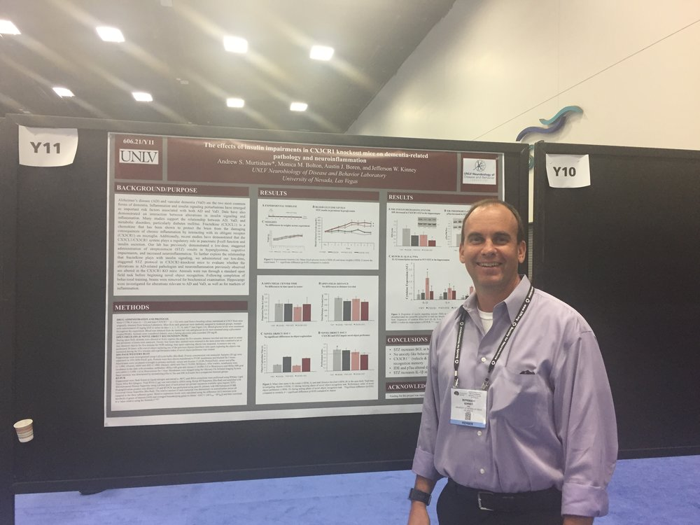 Dr. Kinney standing in for Andrew Murtishaw's 2016 SfN while Andrew took off for a little bit to track down another poster/presentation that he didn't want to miss. Thanks Dr. Kinney!