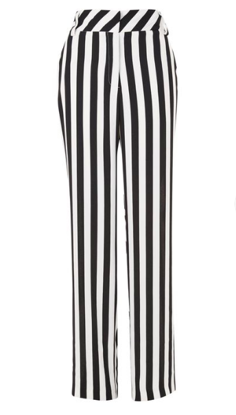 Topshop Stripe Wide Trousers