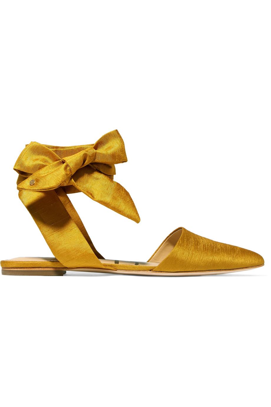 Sam Edelman Brandie Satin Point-toe Flats