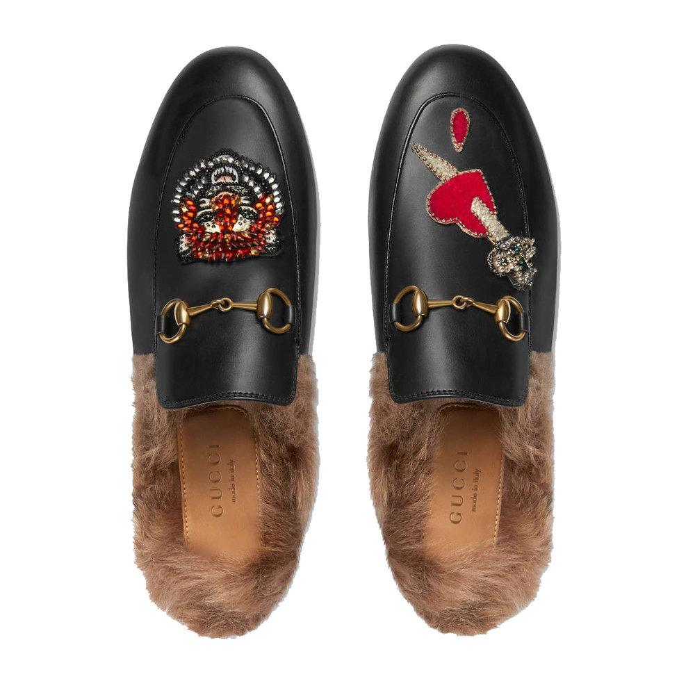 Gucci Princetown slipper with appliqués